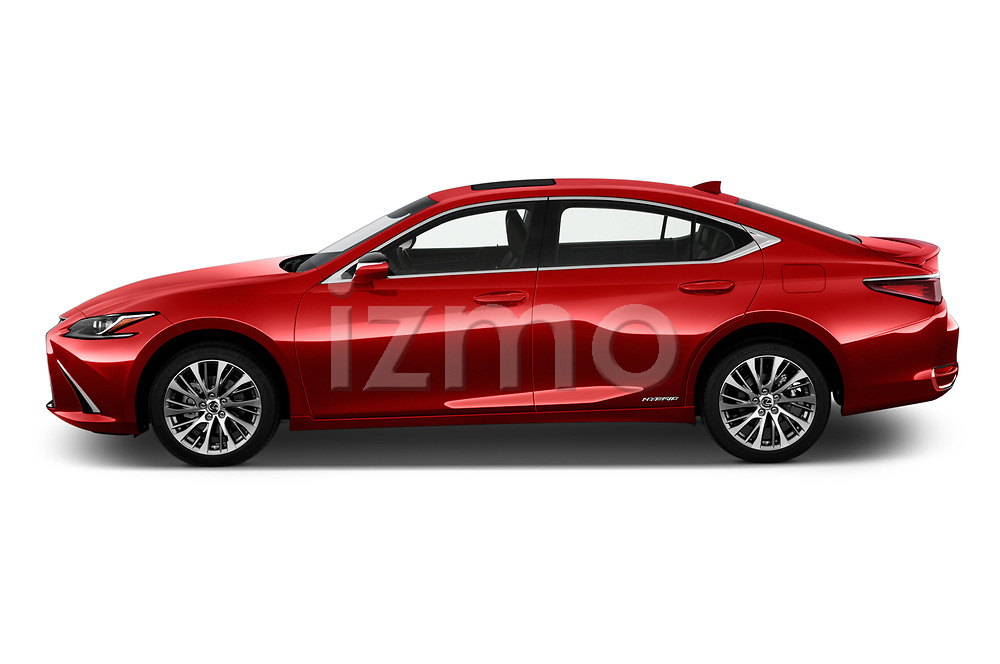 Car driver side profile view of a 2020 Lexus ES 300h 4 Door Sedan