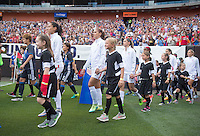 Cleveland, OH - June 5, 2016: The USWNT walks out before their friendly against Japan at FirstEnergy Stadium.