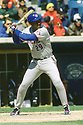 CHICAGO - CIRCA 1997:  Joe Carter #29 of the Toronto Blue Jays bats during an MLB game at Comiskey Park in Chicago, Illinois. Carter played for 16 seasons with 6 different teams and was a 5-time All-Star. (David Durochik / SportPics) --Joe Carter