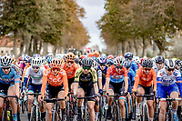 Christine Majerus (LUX/Boels-Dolmans) in front of the peloton<br /> <br /> 9th Gent-Wevelgem in Flanders Fields 2020<br /> Elite Womens Race (1.WWT)<br /> <br /> One Day Race from Ypres (Ieper) to Wevelgem 141km<br /> <br /> ©kramon