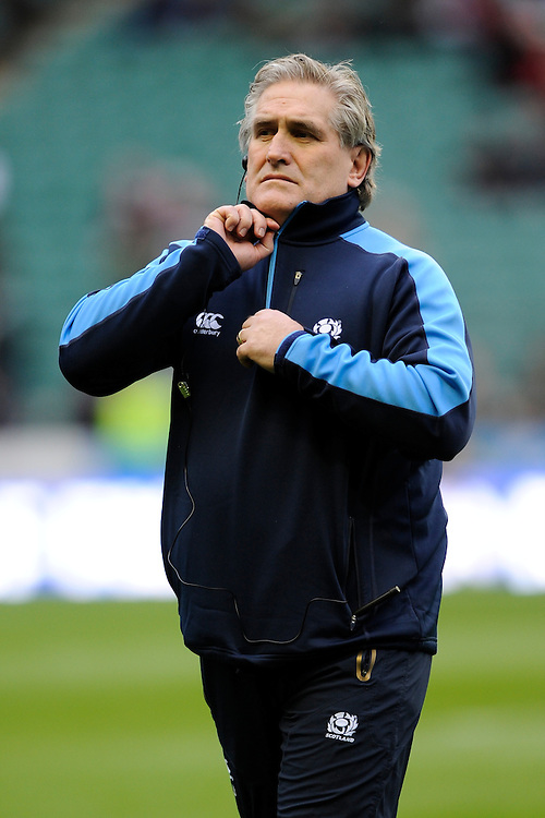 Scott Johnson, Scotland Interim Head Coach, during the RBS 6 Nations match between England and Scotland at Twickenham on Saturday 02 February 2013 (Photo by Rob Munro)