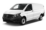 2019 Mercedes Benz Vito Select 4 Door Car Van Angular Front automotive stock photos of front three quarter view