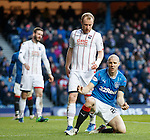Anguish for Philippe Senderos as he misses a chance to score