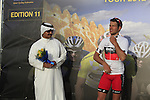 Adam Blythe (GBR) BMC RAcing Team wins of the Young Rider Jersey at the finish of the 1st Stage of the 2012 Tour of Qatar running from Umm Slal Mohammed to Doha Golf Club, Doha, Qatar, 5th February 2012 (Photo Eoin Clarke/Newsfile)