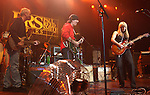 """Paul Reed Smith,Carlos Santana & Orianthi {who appears in Michael Jackson's """"This is It"""" } performs live at The Paul Reed Smith's 20th Anniversary Concert held at The Grove of  Anaheim,in Anaheim,California on January 21,2005. Copyright 2005 by DVS / RockinExposures"""