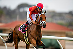JULY 24, 2021: Drayden Van Dyke aboard Evening Sun is disqualified after winning a race at the Del Mar Fairgrounds in Del Mar, California on July 24, 2021. Evers/Eclipse Sportswire/CSM