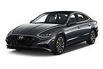 2020 Hyundai Sonata Limited 4 Door Sedan Angular Front automotive stock photos of front three quarter view