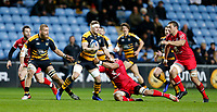 Photo: Richard Lane/Richard Lane Photography. Wasps v Toulouse.  European Rugby Champions Cup. 08/12/2018. Wasps' Thomas Young attacks.