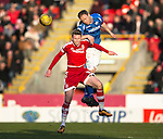 Aberdeen v St Johnstone…27.02.16   SPFL   Pittodrie, Aberdeen<br />Steven Anderson and Simon Church<br />Picture by Graeme Hart.<br />Copyright Perthshire Picture Agency<br />Tel: 01738 623350  Mobile: 07990 594431