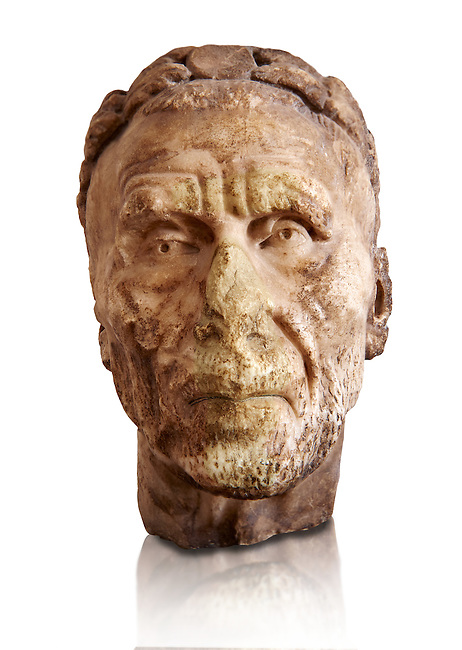 Roman sculpture of the Emperor Gordian 1st, excavated from Carthage ( ruled 3 months in 238AD. The Bardo National Museum, Tunis, Inv No: C. 3212. v
