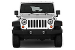 Car photography straight front view of a 2017 JEEP Wrangler-Unlimited Rubicon 5 Door SUV Front View