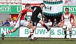 Jon Daly scores his debut goal for Rangers against FC Emmen in Holland