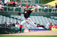 Richmond Flying Squirrels pitcher Tom Vessella (50) during game against the Trenton Thunder at ARM & HAMMER Park on June 9 2013 in Trenton, NJ.  Trenton defeated Richmond 3-2.  Tomasso DeRosa/Four Seam Images