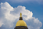Aug. 30, 2013; Dome and storm clouds<br /> <br /> Photo by Matt Cashore/University of Notre Dame