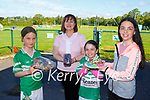 Regan Browne, Breda Cronin Mia Cox and Grace Cox with their entries into  the Legion GAA bake off on Saturday