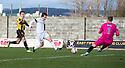 Ayr Utd's Michael Donald scores their fourth goal.