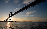 Passing under Newport Bridge