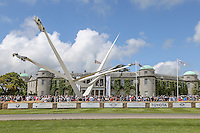 General view of the BMW central feature  at the 2016 Goodwood Festival of Speed to commemorate BMW's 100 years in business at Goodwood, Chichester, England on 24 June 2016. Photo by David Horn / PRiME Media Images