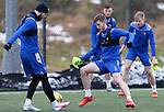 St Johnstone Training...   29.01.21<br />Jamie McCart and Shaun Rooney pictured during a training session at McDiarmid Park this morning ahead of tomorrows game at Kilmarnock.<br />Picture by Graeme Hart.<br />Copyright Perthshire Picture Agency<br />Tel: 01738 623350  Mobile: 07990 594431