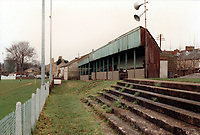 General view of Welton Rovers FC, West Clewes, North Road, Midsomer Norton, Avon, pictured on 28th November 1992