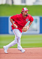 28 February 2017: Washington Nationals infielder Anthony Rendon warms up prior to the inaugural Spring Training game between the Washington Nationals and the Houston Astros at the Ballpark of the Palm Beaches in West Palm Beach, Florida. The Nationals defeated the Astros 4-3 in Grapefruit League play. Mandatory Credit: Ed Wolfstein Photo *** RAW (NEF) Image File Available ***