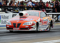 Jun. 17, 2011; Bristol, TN, USA: NHRA pro stock driver Jason Line during qualifying for the Thunder Valley Nationals at Bristol Dragway. Mandatory Credit: Mark J. Rebilas-