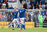 St Johnstone v Rangers…11.09.21  McDiarmid Park    SPFL<br />Hayden Muller and Liam Craig<br />Picture by Graeme Hart.<br />Copyright Perthshire Picture Agency<br />Tel: 01738 623350  Mobile: 07990 594431