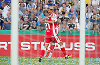 Grischa Proemel, Simon Hedlund 4:2    celebration   4:2  <br /> / Sport / Football / DFB Pokal 1.round 3. Bundesliga 2.Bundesliga /  2018/2019 / 19.08.2018 / FC CZ Jena vs. 1.FC Union Berlin / DFL regulations prohibit any use of photographs as image sequences and/or quasi-video. /<br />       <br />    <br />  *** Local Caption *** © pixathlon<br /> Contact: +49-40-22 63 02 60 , info@pixathlon.de