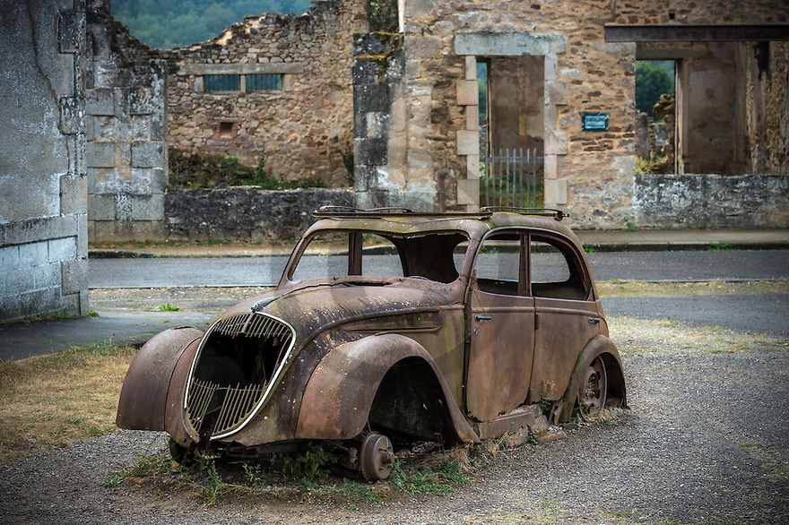 08/09/16 - ORADOUR SUR GLANE - HAUTE VIENNE - FRANCE - Ruines du village martyr d'Oradour sur Glane. Plus grand massacre de civils commis en France par les nazis, 642 victimes - Photo Jerome CHABANNE
