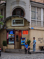 Wechselstube auf der Kote Apkhazi, Tiflis– Tbilissi, Georgien, Europa<br /> money exchabge at Kote Apkhazi, Tbilisi, Georgia, Europe