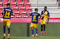 25th August 2020, Red Bull Arena, Slazburg, Austria; Pre-season football friendly, Red Bull Salzburg versus Liverpool FC; Celebrations for 1:0 from Patson Daka FC Red Bull Salzburg