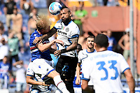 Morten Thorsby of UC Sampdoria and Arturo Vidal of FC Internazionale compete for the ball during the Serie A football match between UC Sampdoria and FC Internazionale at stadio Marassi in Genova (Italy), September 12th, 2021. Photo Image Sport / Insidefoto