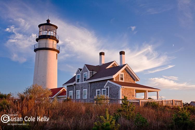 Sunset at Highland (Cape Cod) Light, Truro, Cape Cod, MA, USA