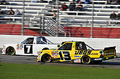 2017 NASCAR Camping World Truck Series - Active Pest Control 200<br /> Atlanta Motor Speedway, Hampton, GA USA<br /> Saturday 4 March 2017<br /> Brett Moffitt and Cody Coughlin<br /> World Copyright: Nigel Kinrade/LAT Images<br /> ref: Digital Image 17ATL1nk06379