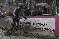 Michaël Vanthourenhout (BEL/Marlux-Bingoal) balancing in the mud. Almost crash. <br /> <br /> elite men's race<br /> GP Sven Nys 2018