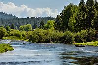 Fishermen drifting lower Williamson River near Chiloquin, Oregon.<br /> <br /> Note: No Model Release.