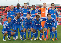 20 October 2012: The Montreal Impact Starting Eleven  during an MLS game between the Montreal Impact and Toronto FC at BMO Field in Toronto, Ontario Canada. .The ended in a 0-0 draw..