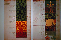 Wallpaper Samples for House of Parliament. Designed by Augustus Pugin.