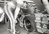 Larry Pollard garage chevrolet Pepsi Firecracker 400 Daytona International Speedway Daytona Beach FL July 1987 (Photo by Brian Cleary/www.bcpix.com)