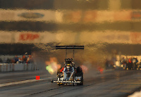 Nov 3, 2007; Pomona, CA, USA; NHRA top fuel dragster driver Rod Fuller during qualifying for the Auto Club Finals at Auto Club Raceway at Pomona. Mandatory Credit: Mark J. Rebilas-US PRESSWIRE