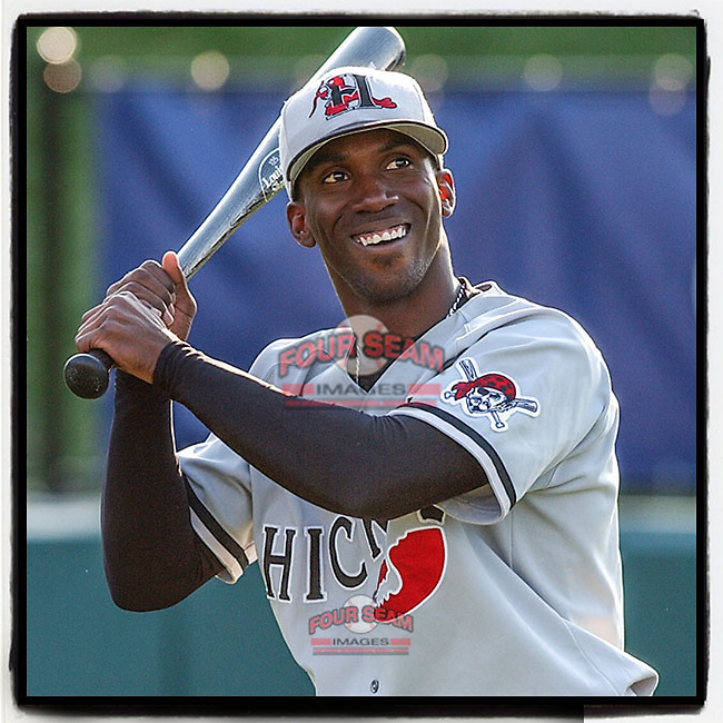 #OTD On This Day, May 14, 2006, Andrew McCutchen of the Hickory Crawdads played in a game at Fluor Field in Greenville, S.C. He later played for Pittsburgh, San Francisco, the Yankees and is now with Philadelphia. He has been Rookie of the Year, MVP and a five-time All-Star. (Tom Priddy/Four Seam Images) #MiLB #OnThisDay #MissingBaseball #nobaseball #stayathome #minorleagues #minorleaguebaseball #Baseball #SallyLeague #AloneTogether