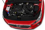 Car stock 2018 Hyundai i30 Twist 5 Door Hatchback engine high angle detail view