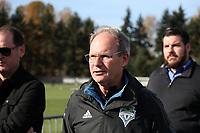 TUKWILA, WA - NOVEMBER 08: Head coach Brian Schmetzer of the Seattle Sounders FC leaves training at Starfire Sports Complex on November 08, 2019 in Tukwila, Washington.