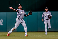26 September 2018: Miami Marlins infielder Miguel Rojas in action against the Washington Nationals at Nationals Park in Washington, DC. The Nationals defeated the visiting Marlins 9-3, closing out Washington's 2018 home season. Mandatory Credit: Ed Wolfstein Photo *** RAW (NEF) Image File Available ***