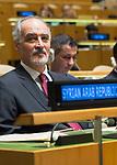 72 General Debate – 23rd of September  2017<br /> <br /> Syrian Ambassador  to United Nations, Bashar Jaafari