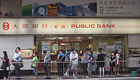 An exterior shot of Public Bank, Central district, Hong Kong, China, 28 April 2014.