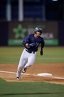 Tampa Tarpons Oswaldo Cabrera (3) running the bases during a Florida State League game against the Daytona Tortugas on May 17, 2019 at George M. Steinbrenner Field in Tampa, Florida.  Daytona defeated Tampa 8-6.  (Mike Janes/Four Seam Images)