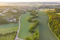 France, Cote d'Or, Val Suzon  Regional Natural Reserve, Messigny et Vantoux, the village (aerial view) // France, Côte d'Or (21), réserve naturelle régionale du Val-Suzon, Messigny-et-Vantoux, le village (vue aérienne)