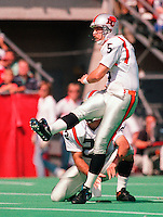 Lui Passaglia BC Lions kicker. Photo Scott Grant