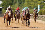 May 17, 2013, I'm Mom's Favorite (#8, green cap), Sheldon Russell up, wins race 8, the 28th runniing of the Ms. Preakness Pink Warrior Stakes at Pimlico Race Course in Baltimore, MD. Trainer is Anthony Dutrow.(Joan Fairman Kanes/Eclipse Sportswire)
